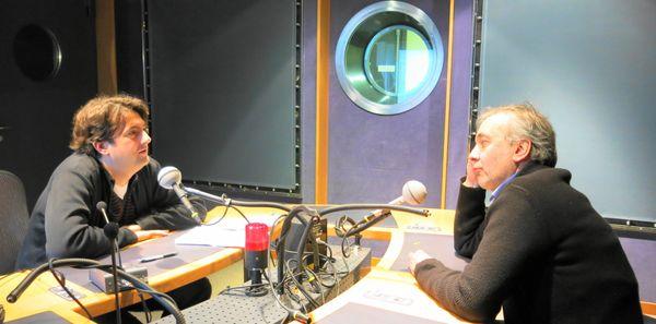 France Musique, studio 142 ... Bruno Mantovani & Philippe Bernold (de g. à d.) © Annick Haumier-Radio France