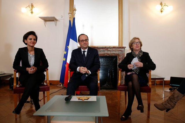 François Hollande en visite à l'ESPE de Paris ce mercredi.