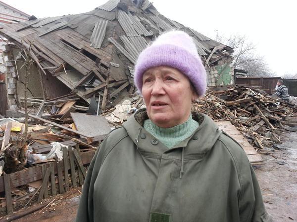 Ludmila a perdu sa maison à cause des bombardements séparatistes sur Popasna