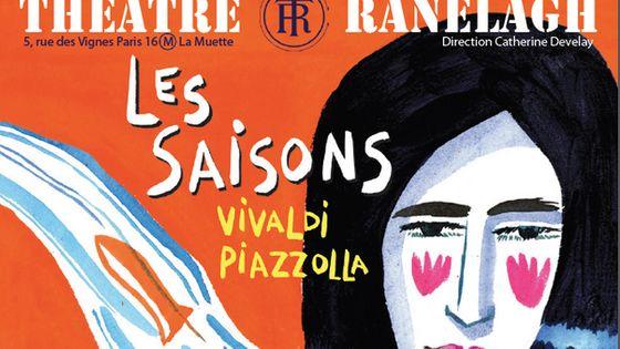 Le spectacle musicale Les Saisons - Vivaldi Piazzolla au Théâtre du Ranelagh