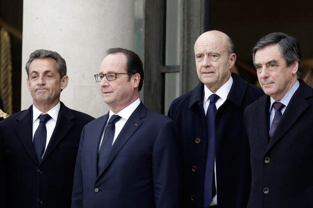Francois Hollande a reçu le 11 janvier à l'Elysée Nicolas Sarkozy, Alain Juppe, Francois Fillon