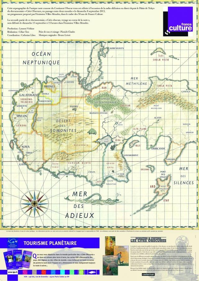 Carte des Cités Obscures