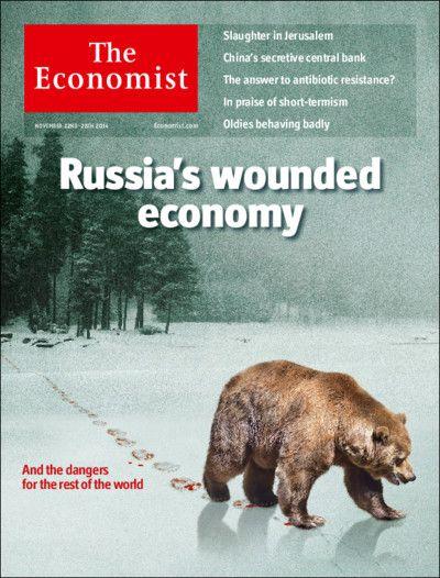 """""""L'économie blessée de la Russie"""", The Economist, 22 novembre 2014"""