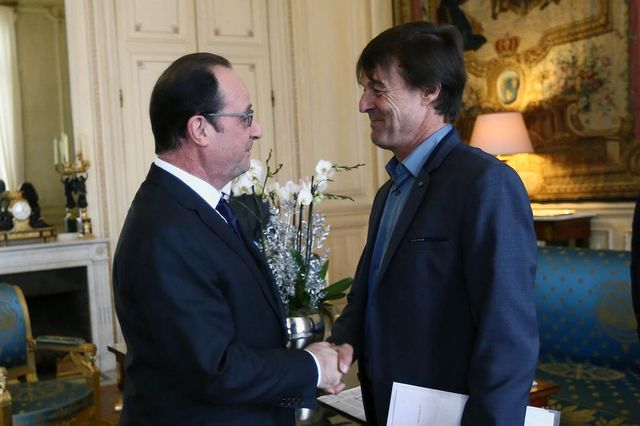 François Hollande a reçu Nicolas Hulot à l'Elysée