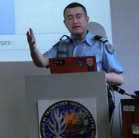 Le Colonel Eric Freyssinet, responsable du Centre de lutte contre les Cybercriminalités de la gendarmerie