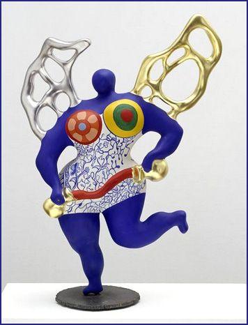 La tempérance, esquisse sculptée pour le Jardin des tarots. Par Niki de Saint Phalle. 1985