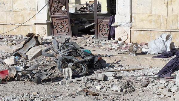 Une maison éventrée de Kobane
