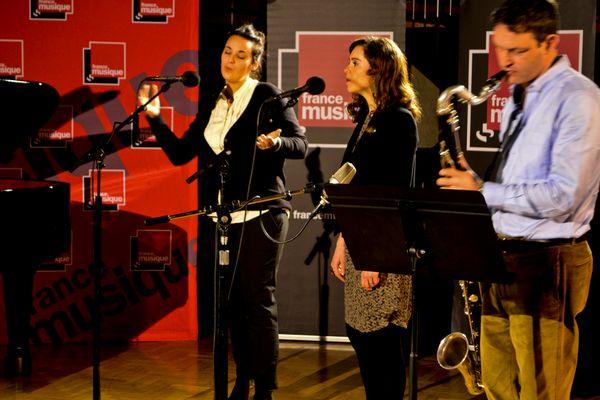 Marion Rampal, Noëmi Waysfeld et Thomas Savy (© France Musique)