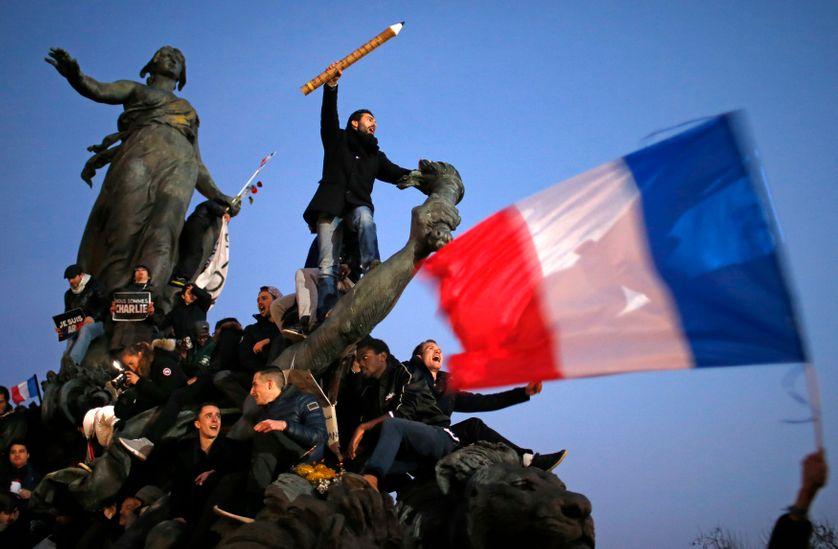 Manifestation de soutien à Charlie Hebdo à Paris, le 11 janvier 2015