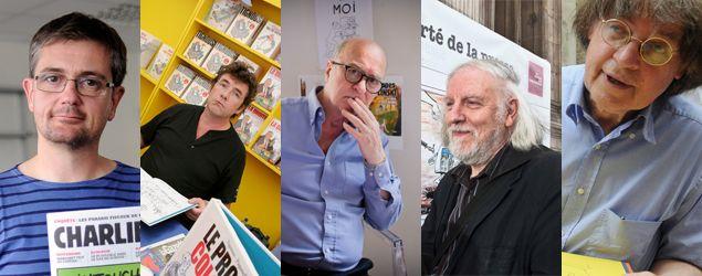 Charlie Hebdo 5 dessinateurs