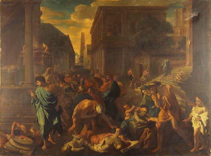 La peste d'Athènes d'après Poussin