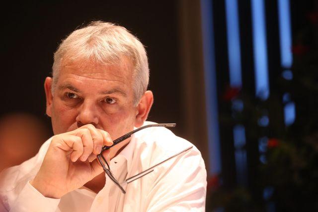 Thierry Lepaon, dans son bureau