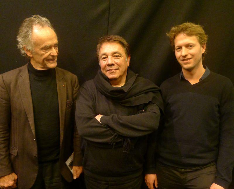 Jean-Claude CASADESUS, Jean GUIDONI et le pianiste Julien LALLIER