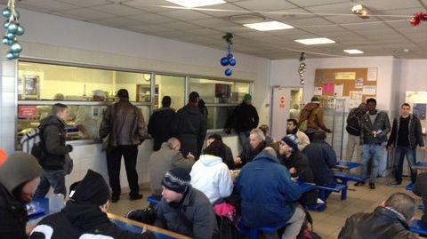 FBToulouse SDF au centre  d accueil du Grand Ramier