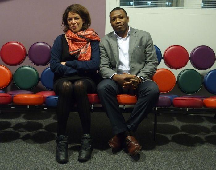 Dorothée Thiénot et Samuel Nguembock