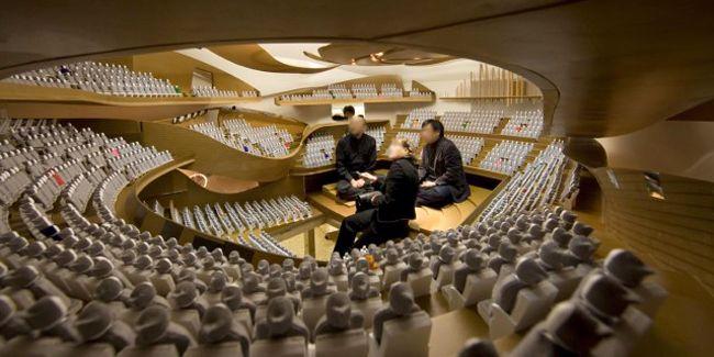 La maquette au 1/10è de la Philarmonie de Paris, testée par des acousticiens