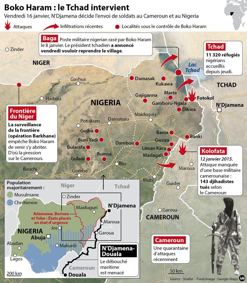 Boko Haram : le Tchad va envoyer des troupes au Cameroun