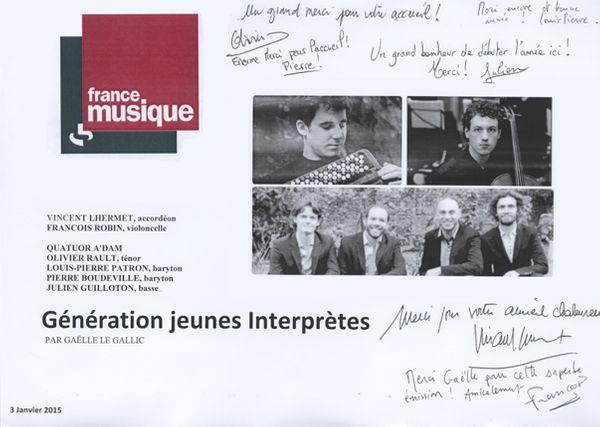 Livre d'or de Génération jeunes interprètes du 03 janvier 2015_603
