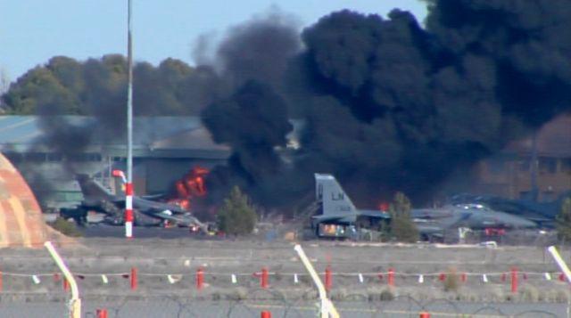 crash d'un F-16 grec à Albacete