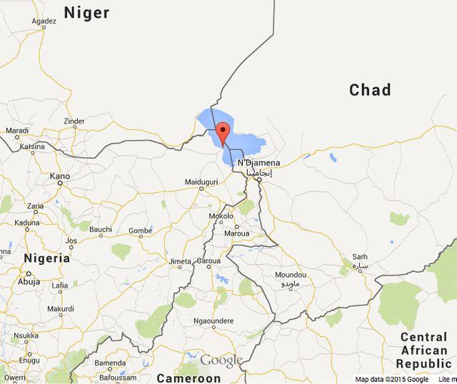 Carte du nord Nigéria et pays voisins