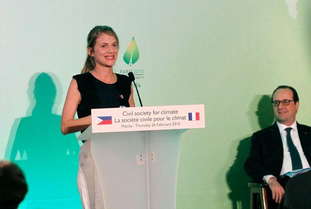 L'actrice française Mélanie Laurent, pendant le Forum sur les changements climatiques à Manille (Philippines) 26 février 2015.