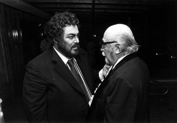 Luciano Pavarotti et Emerson Buckley