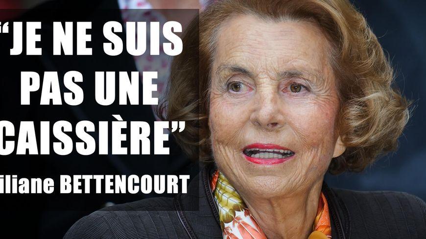 """Liliane Bettencourt : """"je ne suis pas une caissière"""""""
