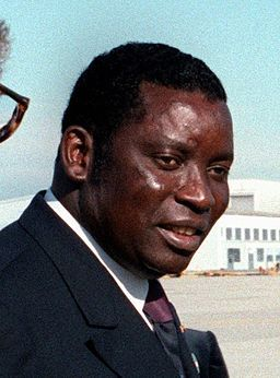 Gnassingbé Eyadéma, ancien président du Togo, ici en 1983