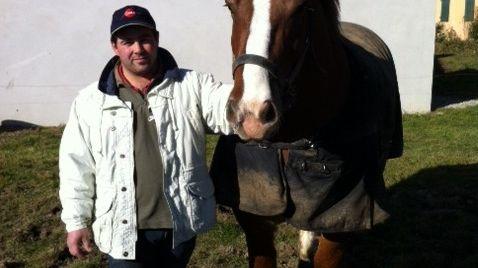 """Fabien Le Port et """"Caprice de Kerlaviou"""" partipent pour la première fois au Salon de l'agriculture."""
