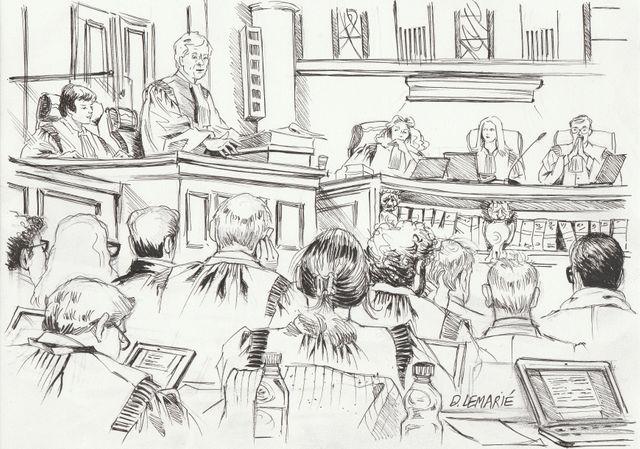 La salle d'audience du procès Bettencourt