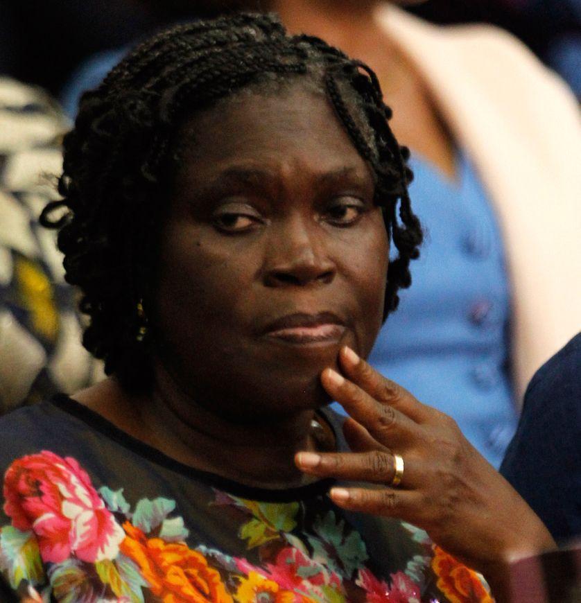 Simone Gbagbo devant la justice ivoirienne le 23 février 2015.