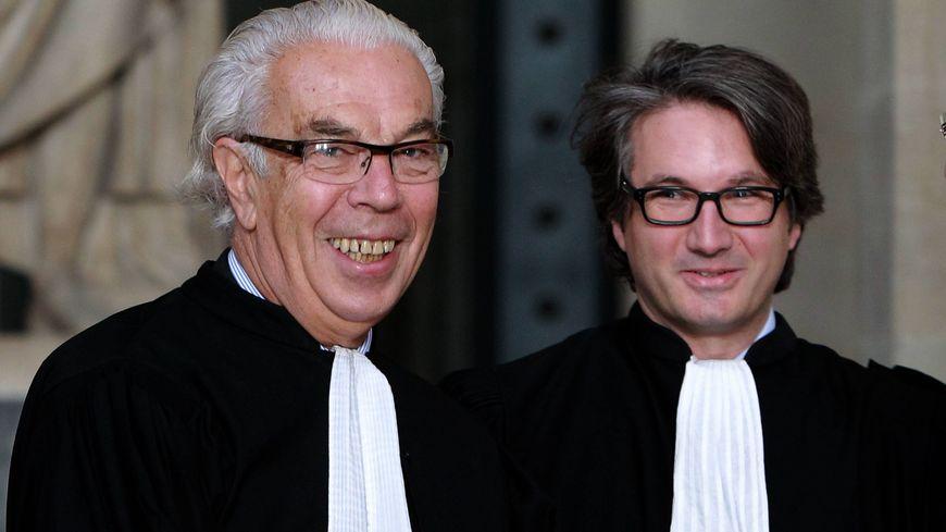 Maîtres Benoît Ducos-Ader (gauche) et Arnaud Dupin (droite) au palais de justice de Bordeaux (archives).