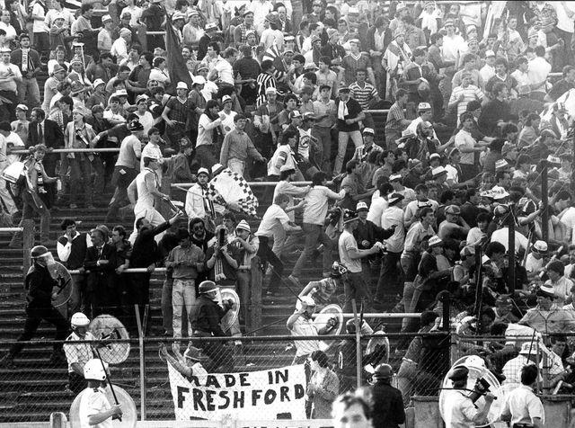 Mouvement de foule lors du désastre du 29 mai 1985 au stade dy Heysel