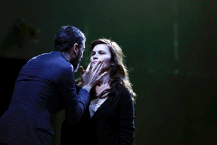 Micha Lescot et Marina Hands, répétitions d'Ivanov