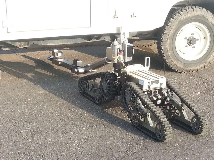 Les démineurs de Colmar  robot