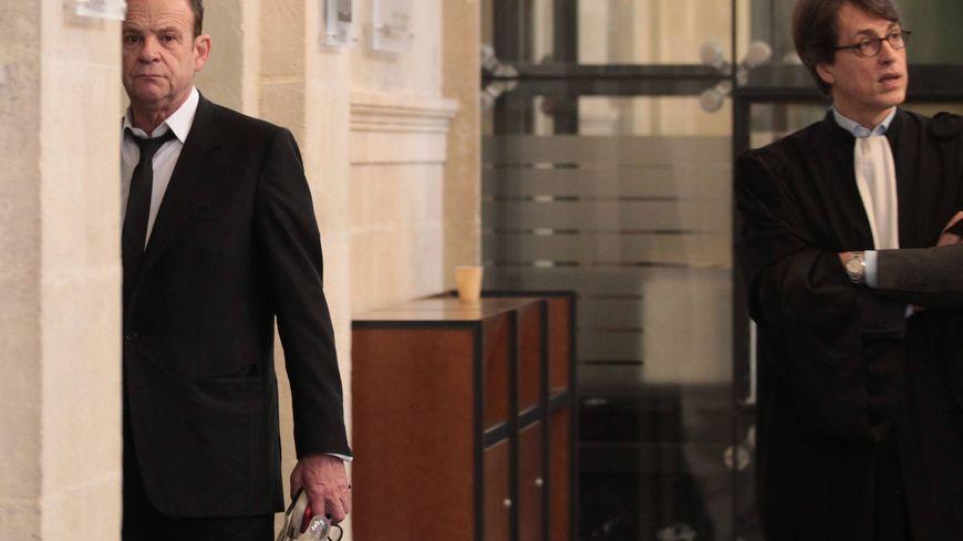 François-Marie Banier au procès Bettencourt à Bordeaux
