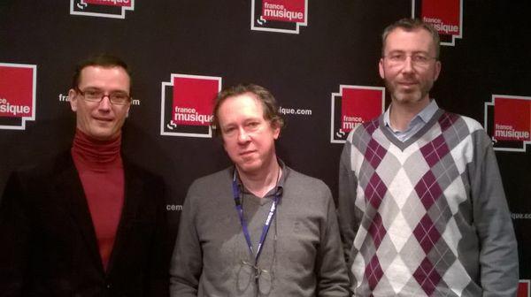 De gauche à droite : Marc-Antoine Pingeon, Benoît Duteurtre et Cédric Kleinklaus