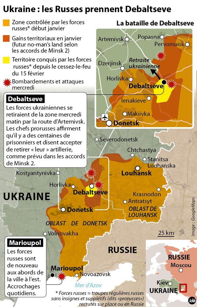Les séparatistes prennent Debaltseve