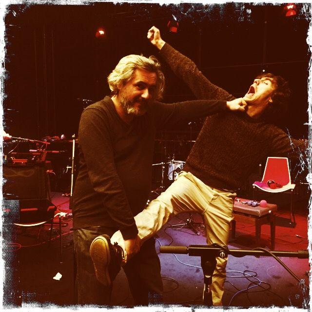 Les Garçons manqués, Nicolas Rey et Mathieu Saikaly dans le studio 621 après l'émission - Sonia Leyglene