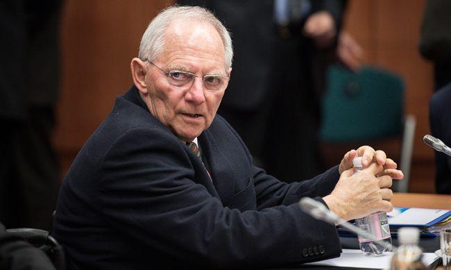 Wolfgang Schaüble, ministre allemand des finances le 16 février à la réunion de l'Europgroupe sur la Grèce