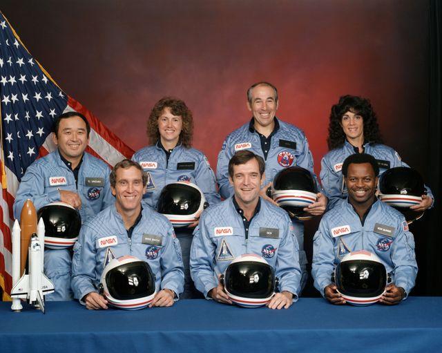 L'équipage de la navette spatiale Challenger, 1986