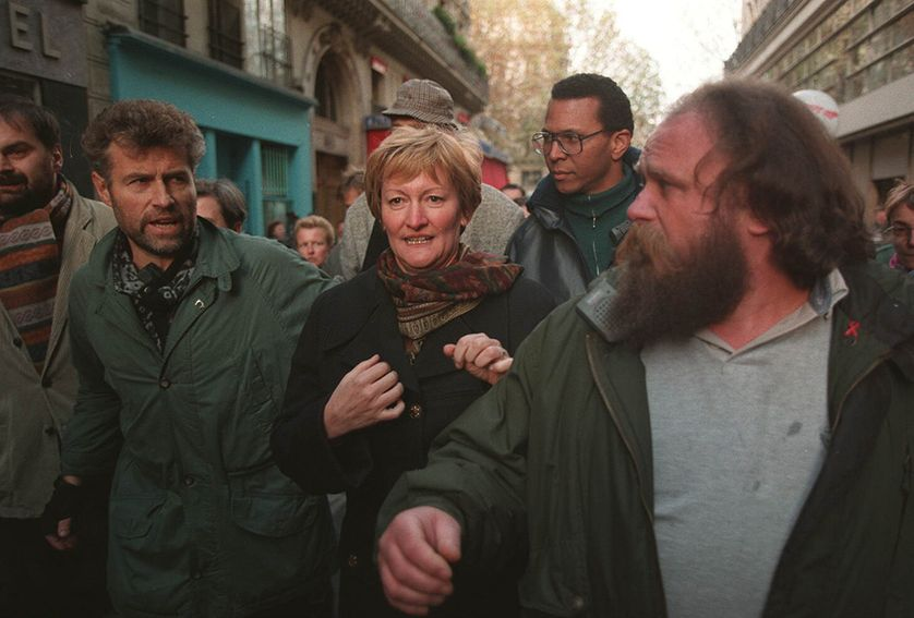 Nicole Notat manifeste en 1995
