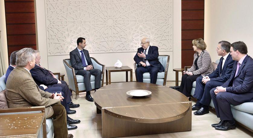 Rencontre entre Bachar el-Assad et des parlementaires français