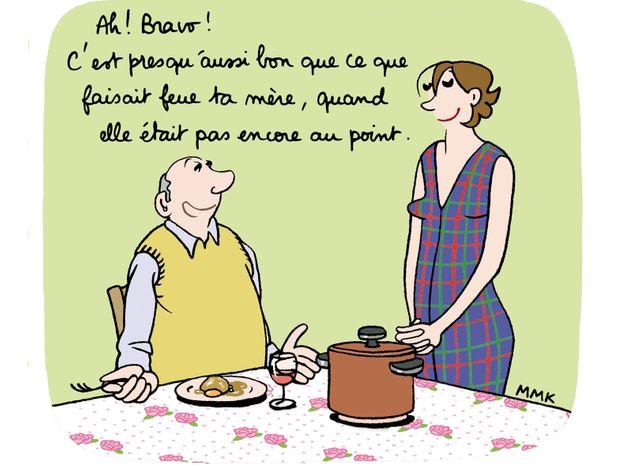 Gloria aux fourneaux ou l 39 humour d 39 une quadra en cuisine for Cuisinier humour