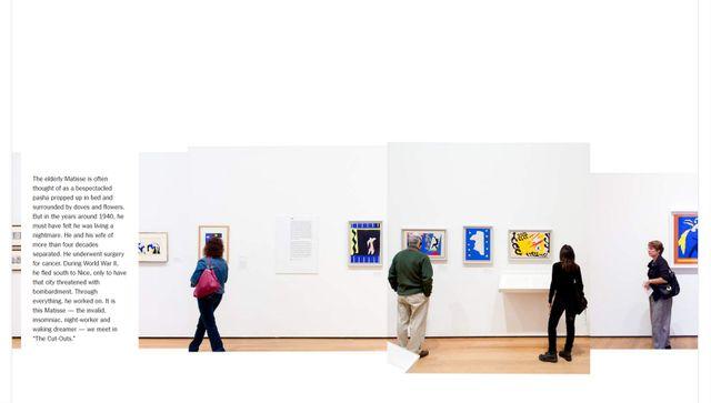 """Capture d'écran du New York Times présentant l'exposition Matisse à New York"""""""