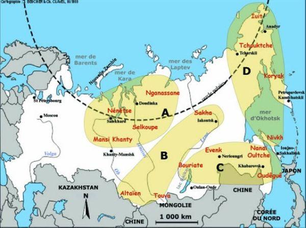 carte Sibérie