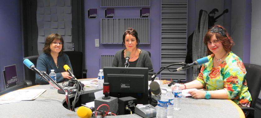 France Culture, studio 153 ... Béatrice Guillemard, Aline Pailler & Cendrine Bonami-Redler ( de g. à d.)