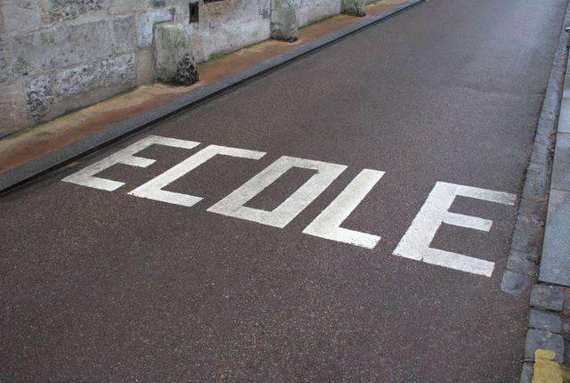 la route de l'école