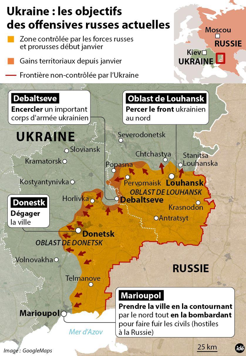Ukraine : les buts de l'offensive russe