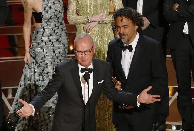 Michael Keaton et Alejandro Inarritu sur le tapis rouge des Oscars